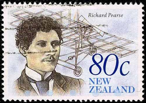 Richard Pearse 80 cent stamp