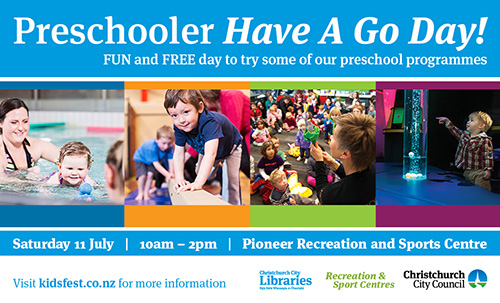Preschoolers have a go day