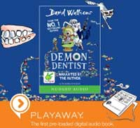 Book cover for Demon Dentist by David Walliams in Playaway format
