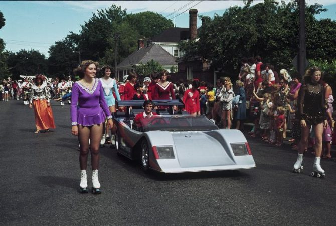 Car Float and Rollerskates, c. 1970