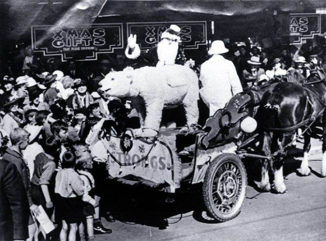 Father Christmas on T.J Armstrong & Co's Christmas Float