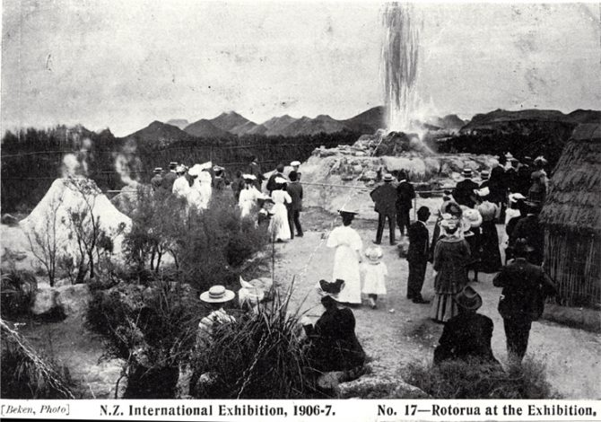 Rotorua at the New Zealand International Exhibition 1906/7, Hagley Park, Christchurch [1906?]