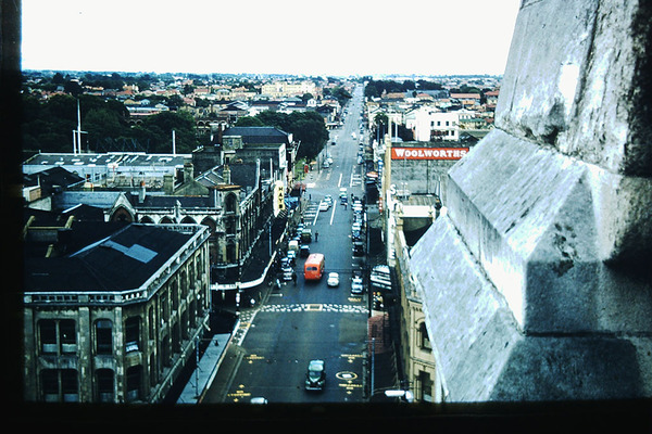 Looking North along Colombo Street, 1957