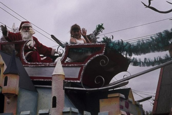 Santa Float at Hay's Christmas Parade, 1970's. CCL Img ARCH812-27.