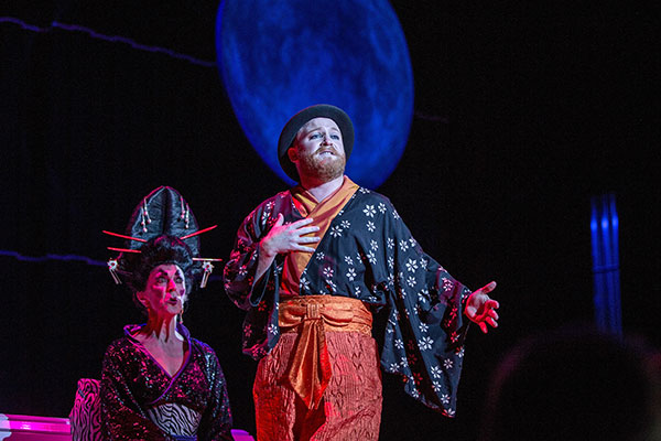Helen Medlyn as Katisha and Byron Coll as Ko-Ko.