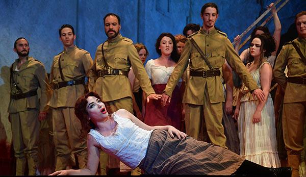 Carmen with chorus members