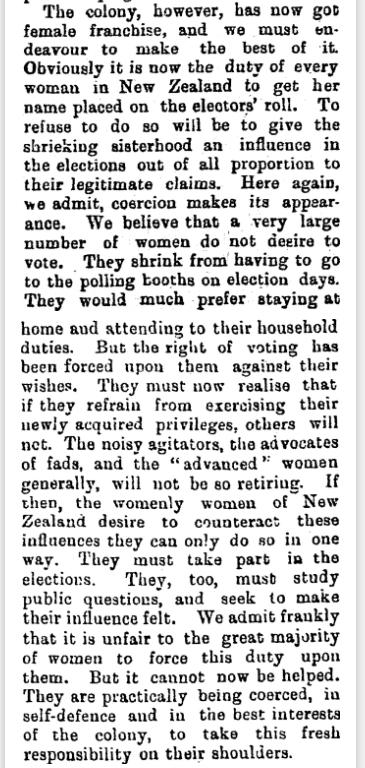 The Press. WEDNESDAY. SEPTEMBER 20, 1893. WOMAN'S FRANCHISE., Press, Volume L, Issue 8592, 20 September 1893